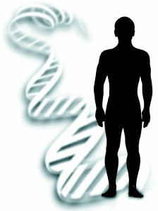 Human with DNA Shadow
